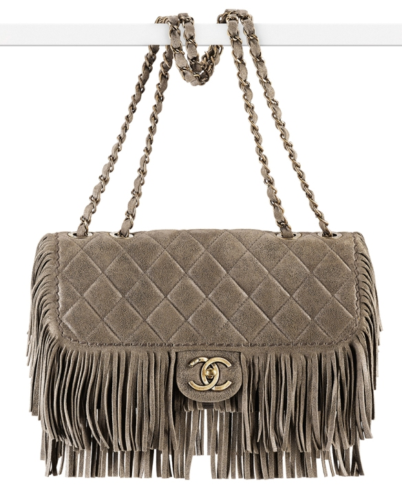 Chanel-Calkskin-Fringe-Flap-Bag