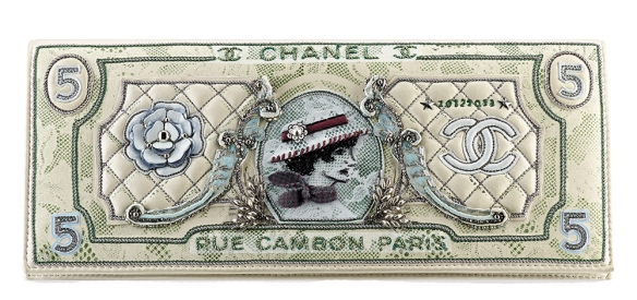 Chanel-Embroidered-Money-Clutch