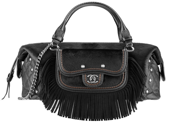 Chanel-Fringe-and-Calf-Hair-Bowling-Bag