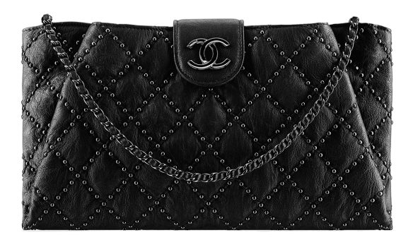 Chanel-Studded-Lambskin-Clutch