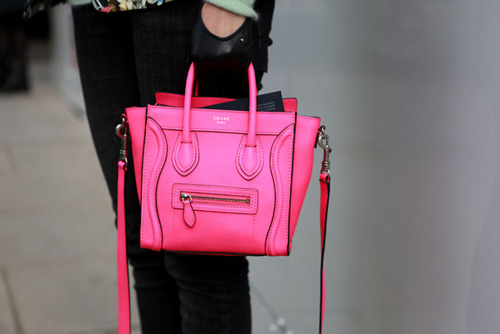 celine purse hot pink